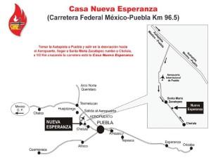 Mapa a Cholula